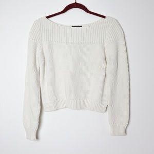 Banana Republic | Ivory Cropped Sweater